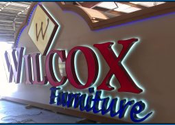 wilcox furniture sign designers Iconic Sign Group